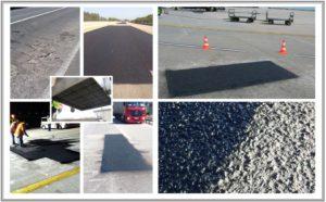 Interventi di rigenerazione a caldo della pavimentazione con tecnologia Nuphalt e di riqualifica superficiale con tecnologia Regephalt