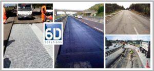 """Rinforzi strutturali delle pavimentazioni stradali e aeroportuali mediante griglia in fibra di vetro """"6D Solutions"""" - Distributore esclusivo in Italia"""